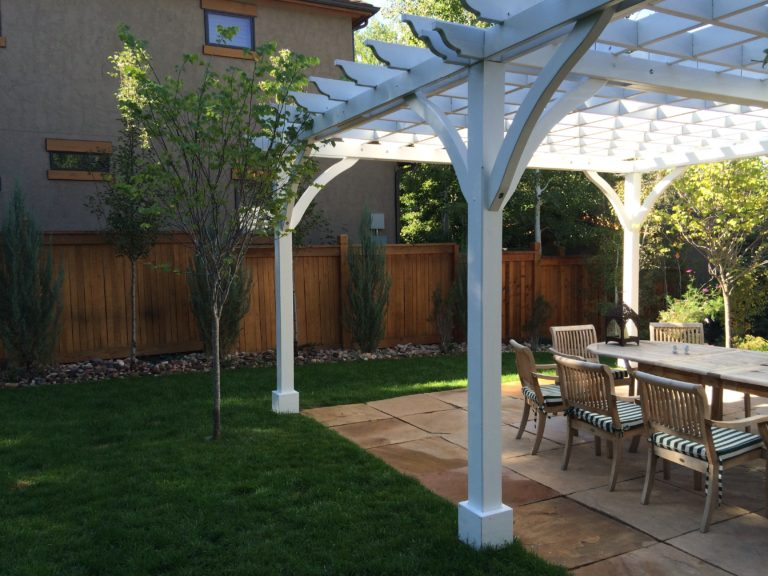 Pergola and Stone Tile Patio