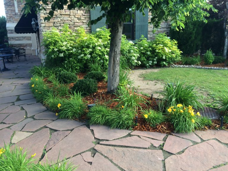 Flagstone Path Leading to Patio