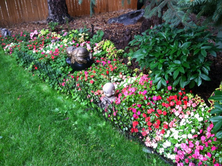 Impatiens Border Flower Bed in Lakewood