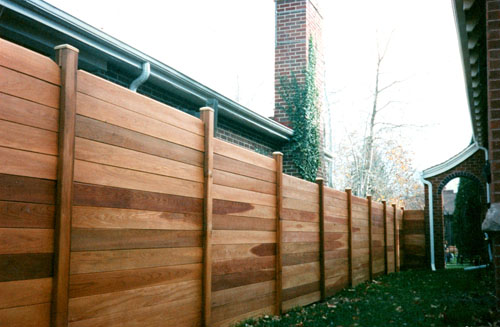 Horizontal White Cedar Privacy Fence