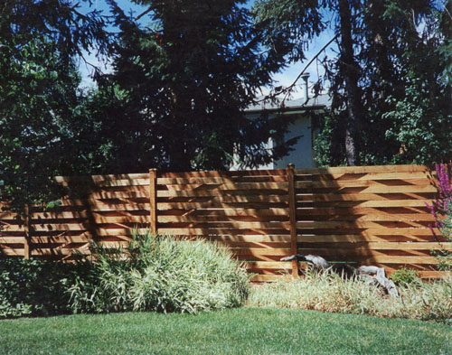 Basket Weave Fence in Cherry Hills