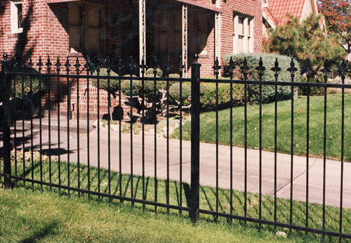 Fleur De Lis Spear Top Ornamental Fence in Littleton