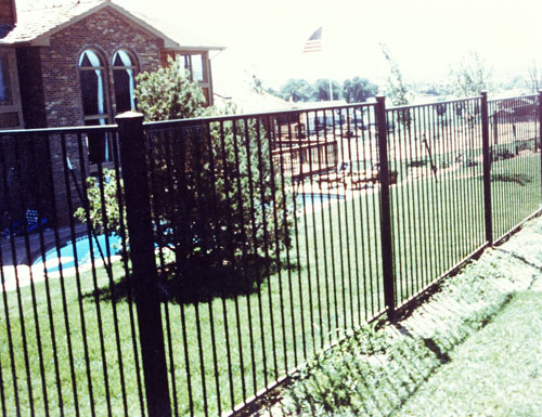 Ornamental Iron Pool Fence in Cherry Hills